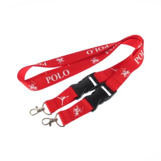 Factory custom cheap polyester lanyard with breakaway buckle