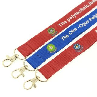 custom cheap wholesale polyester printed lanyard