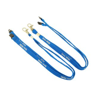Double layer weaved polyester tube lanyard design and sample free