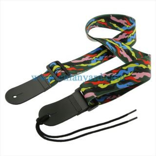 Cool pattern design strap for acoustic electric and bass guitar