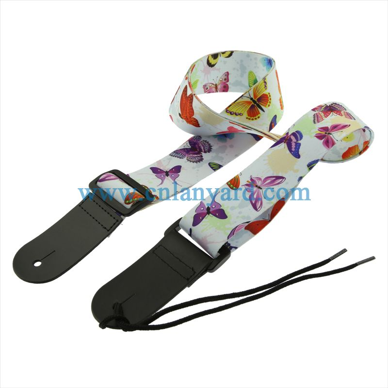 Beautiful Guitar Strap with Leather End Electric Acoustic Bass