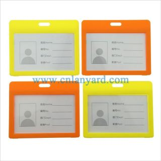 Clear Waterproof Soft Plastic PVC Id Card Holder